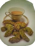Biscotti di mandorle al pistacchio